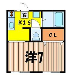 コーポ尾崎[2階]の間取り
