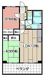 島名ビル[701号室]の間取り