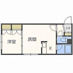 北海道札幌市西区二十四軒四条2丁目の賃貸マンションの間取り