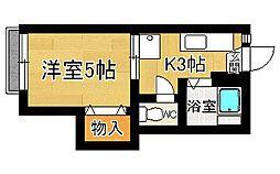 奈良県奈良市北半田西町の賃貸アパートの間取り