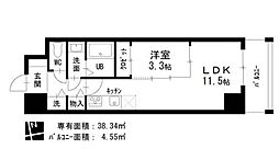 愛知県名古屋市東区相生町の賃貸マンションの間取り