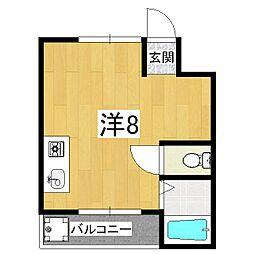 フォレスト鴨戸[1階]の間取り
