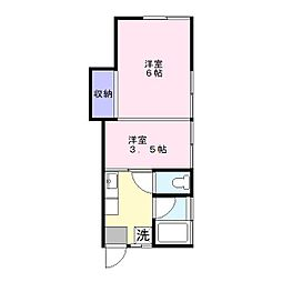 やよい荘[2階]の間取り