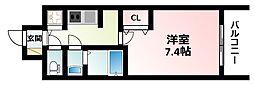 Osaka Metro御堂筋線 江坂駅 徒歩7分の賃貸マンション 12階1Kの間取り