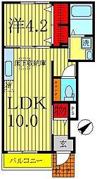 千葉県松戸市小金きよしヶ丘4丁目の賃貸アパートの間取り