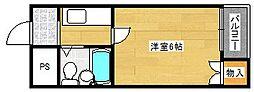 ラフォーレ千本南[3階]の間取り
