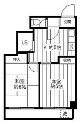 メゾン富士[2階]の間取り