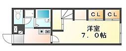 JR予讃線 宇多津駅 徒歩10分の賃貸アパート 2階1Kの間取り