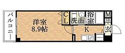 プロシード京橋[1205号室]の間取り