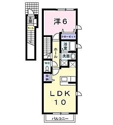 シャロー マーシュI[2階]の間取り