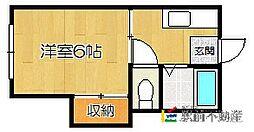 福岡県福岡市東区和白東3丁目の賃貸アパートの間取り