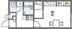 レオパレス メルツェ 2[2階]の間取り