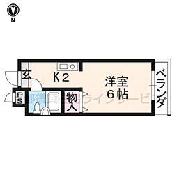 めぞんICHI[401号室]の間取り