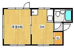 広島県広島市中区中町の賃貸アパートの間取り
