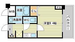 兵庫県姫路市名古山町の賃貸マンションの間取り