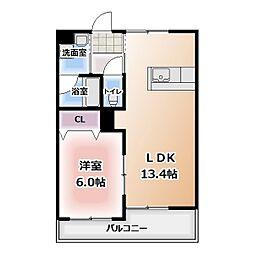 グレースコート神戸[301号室]の間取り