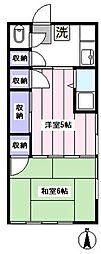 北アパート[2階]の間取り