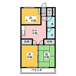 マルサ大長マンション[2階]の間取り