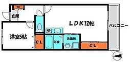 GEパークサイド 6階1LDKの間取り
