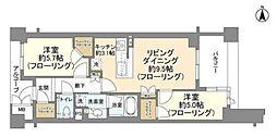 JR山手線 目黒駅 徒歩8分の賃貸マンション 7階2LDKの間取り