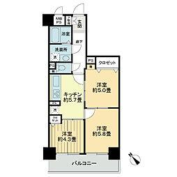 ライオンズマンション船橋塚田[5階]の間取り