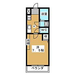 Mpi's京都西院[2階]の間取り