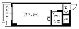 朝日プラザ浜松ステーションスクエア[205号室]の間取り