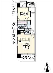 レジデンスMTY[7階]の間取り