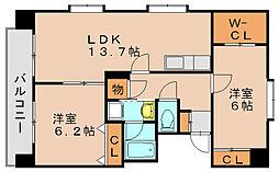 イーストコート箱崎[6階]の間取り