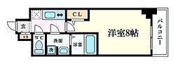 JR大阪環状線 福島駅 徒歩3分の賃貸マンション 11階1Kの間取り