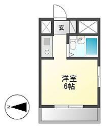 ダイアパレス新栄[4階]の間取り