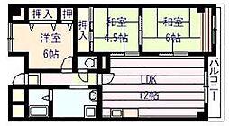 シャトーアルベール[3階]の間取り