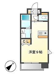 プレサンス鶴舞駅前ブリリアント[10階]の間取り