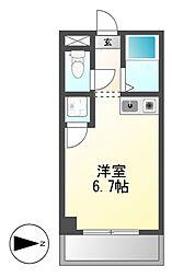 ドール六番町[6階]の間取り