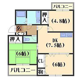 カーサNAKAMURA[4階]の間取り