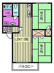フレグランス大塚 A・B[B203号室]の間取り