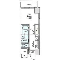 JR総武線 小岩駅 徒歩4分の賃貸マンション 9階1Kの間取り