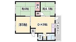 K&Sマンション[6階]の間取り