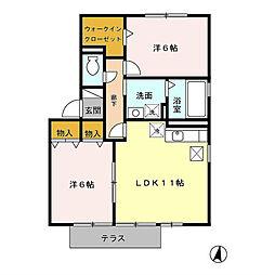 メロニス B[2階]の間取り