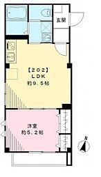 ラ・ベルヴィ桜台[2階]の間取り