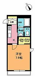 埼玉県上尾市愛宕2丁目の賃貸アパートの間取り