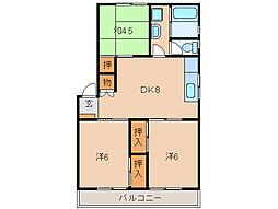 コーポラス神戸[2階]の間取り