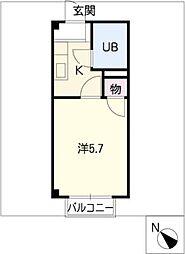 メゾンドバウハウス[2階]の間取り