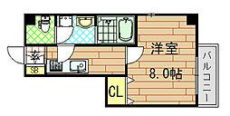 ゼファー東大阪[11階]の間取り