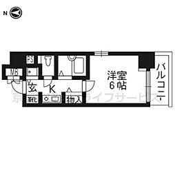 リーガル京都河原町II206[2階]の間取り