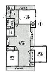 角部屋・3面バルコニー