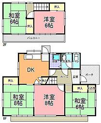 [一戸建] 茨城県水戸市双葉台2丁目 の賃貸【/】の間取り