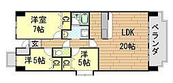 MIITAKAI(エムツータカイ)[202号室]の間取り
