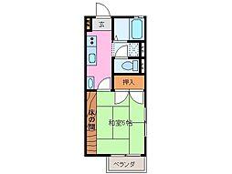 ハイツ ワンプラム b[2階]の間取り