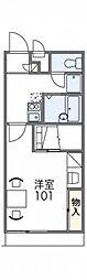 レオパレスフロレスタ[1階]の間取り